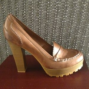 Shoes - A pair of high heeled Penny Loafer's